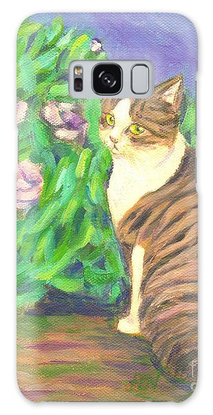A Cat At A Garden Galaxy Case