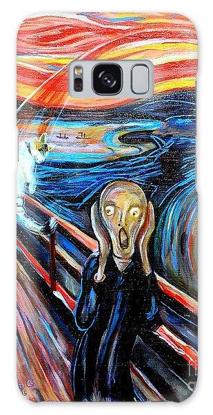 A Cat For Edvard Munch_ Annie Passing Through Galaxy Case