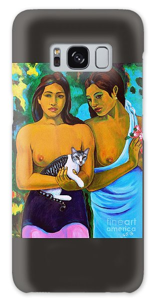 A Cat For Gauguin_ A Tahitian Feline Galaxy Case by George I Perez