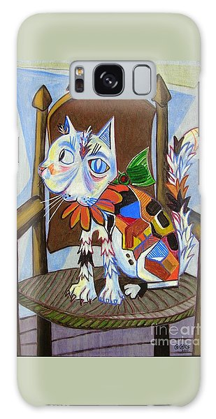 A Cat For Picasso_ Chat Et Souris Galaxy Case