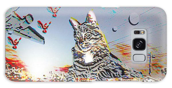 Galaxy Case featuring the photograph A Cat's World by Dart and Suze Humeston