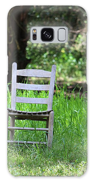 A Chair In The Grass Galaxy Case
