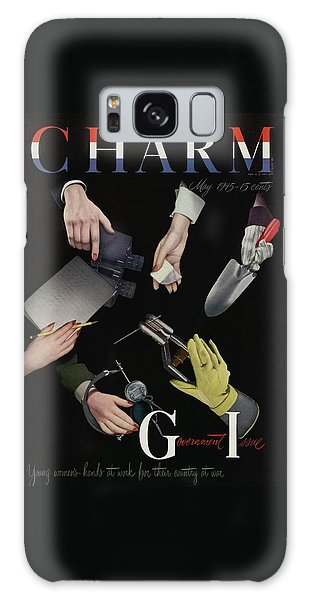 A Charm Cover Of Women's Hands Reaching For Tools Galaxy Case