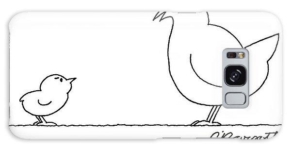 A Chicken Tells Her Baby Chick Galaxy S8 Case