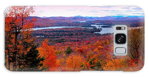 A Chilly Autumn Day On Mccauley Mountain Galaxy Case by David Patterson