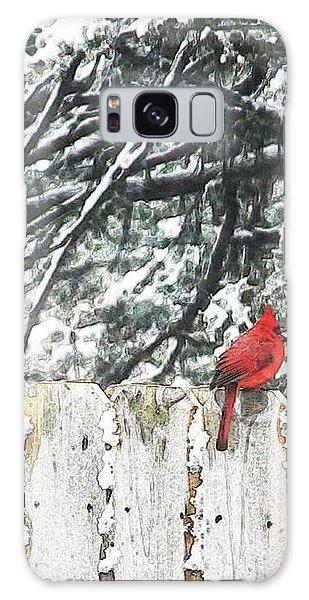 A Christmas Cardinal Galaxy Case