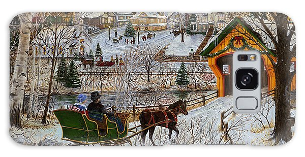 A Christmas Sleigh Ride Galaxy Case by Doug Kreuger