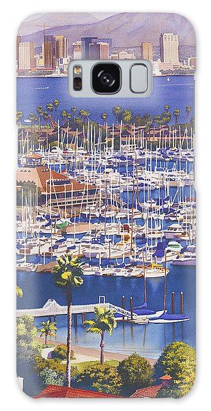 City Scenes Galaxy Case - A Clear Day In San Diego by Mary Helmreich