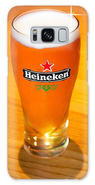 A Cold Refreshing Pint Of Heineken Lager Galaxy Case by Semmick Photo