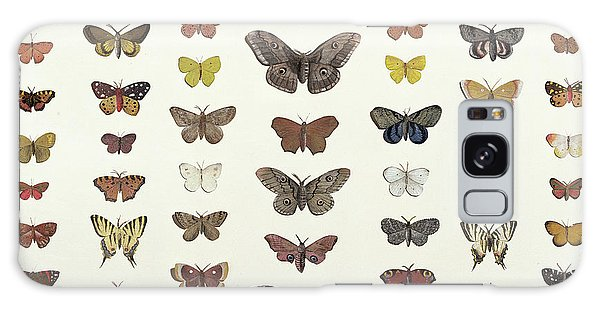 Minimal Galaxy Case - A Collage Of Butterflies And Moths by French School