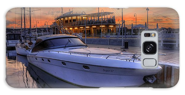 A Cool Motorboat Yacht In Sopot Marina Galaxy Case