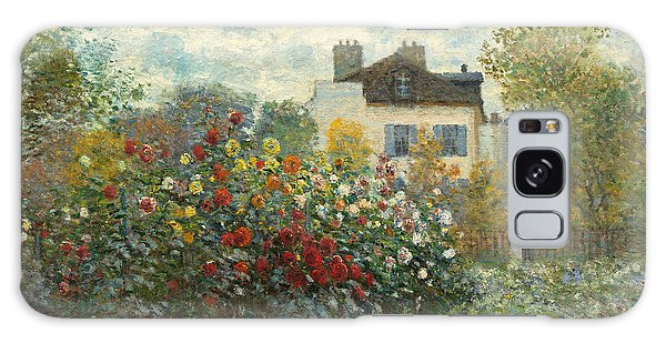 French Galaxy Case - A Corner Of The Garden With Dahlias by Claude Monet
