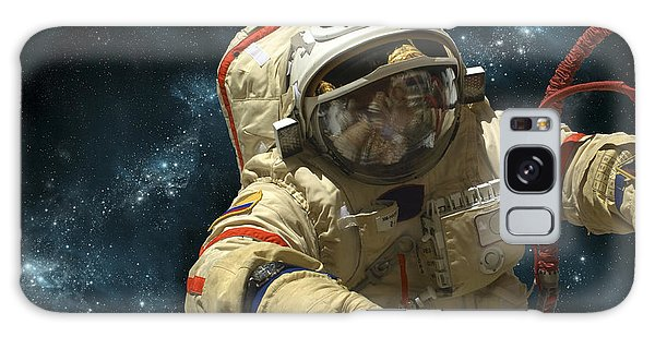 Astronaut Galaxy Case - A Cosmonaut Against A Background by Marc Ward