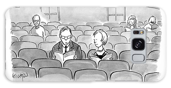 A Couple Sits Reading A Playbill Galaxy S8 Case