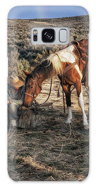 A Cowgirls Best Friend Galaxy Case
