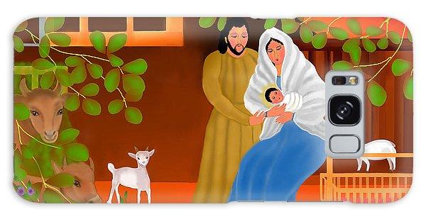 A Cradle In Bethlehem Galaxy Case by Latha Gokuldas Panicker