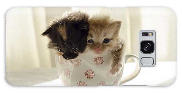 A Cup Of Cuteness Galaxy Case by Spikey Mouse Photography