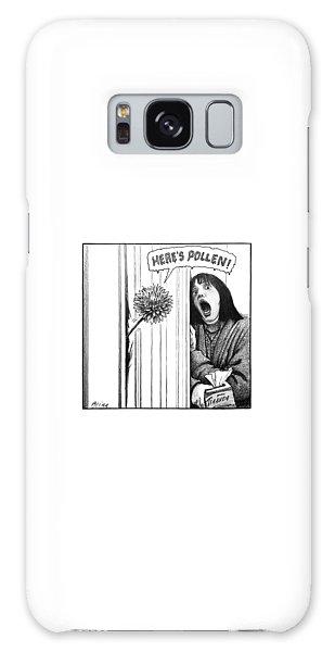 Pollen Galaxy Case - A Dandelion Pokes Into A Door by Harry Bliss