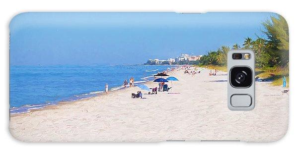 A Day At Naples Beach Galaxy Case