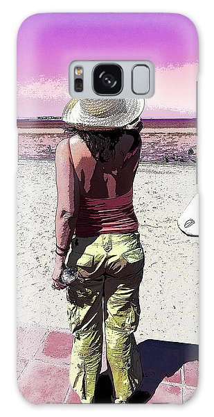 A Day At The Beach Galaxy Case