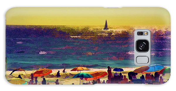 A Day At The Beach Galaxy Case by Billie-Jo Miller