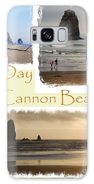 A Day On Cannon Beach Galaxy Case