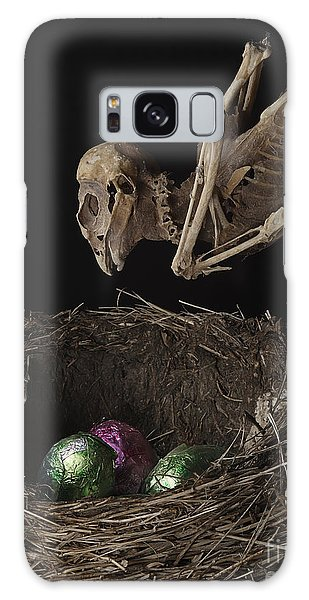 A Dead Bird Flies Into Its Nest Only To Find Chocolate Eggs Galaxy Case
