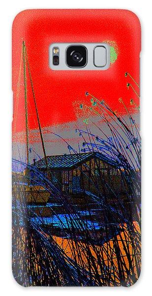 A Digital Marina Sunset Galaxy Case