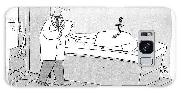 A Doctor Enters An Examination Room Where Galaxy Case