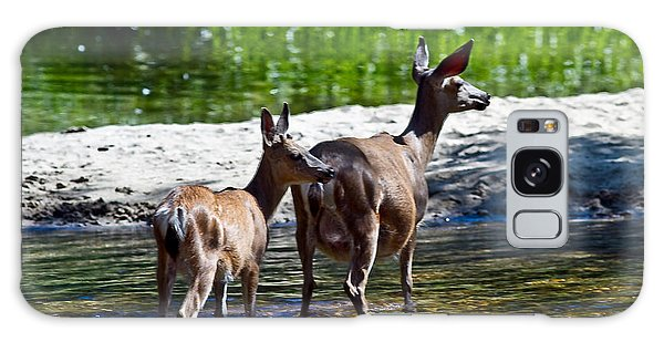 A Doe And Fawn Galaxy Case