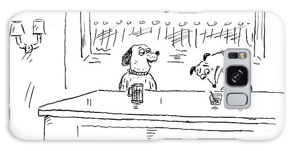 A Dog Addresses Another Dog In A Bar Galaxy Case
