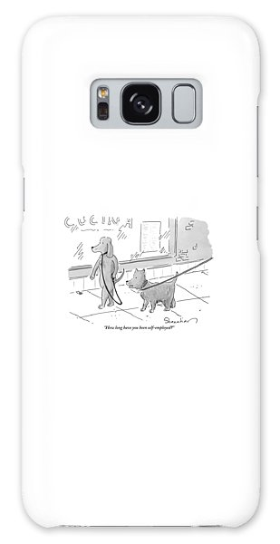Leash Galaxy Case - A Dog Being Walked On A Leash Asks A Dog Who by Danny Shanahan