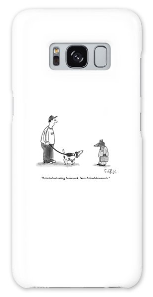 Leash Galaxy Case - A Dog In A Business Suit by Sam Gross