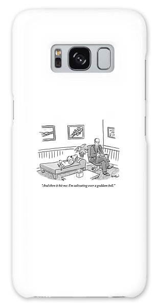 A Dog Lies On The Bed In A Psychiatrist's Office Galaxy Case