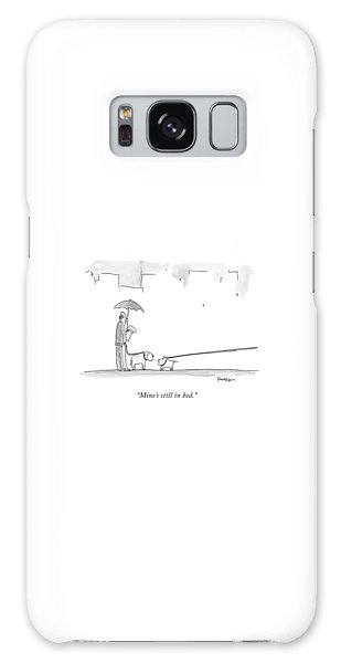 Leash Galaxy Case - A Dog On A Very Long Leash Explains To Another by Ken Krimstein