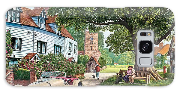 English Countryside Galaxy Case - A Drive Out by MGL Meiklejohn Graphics Licensing
