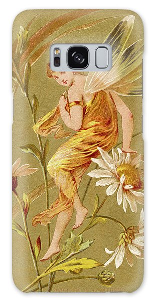 Folklore Galaxy Case - A Fairy Sits Lightly On The  Stem by Mary Evans Picture Library