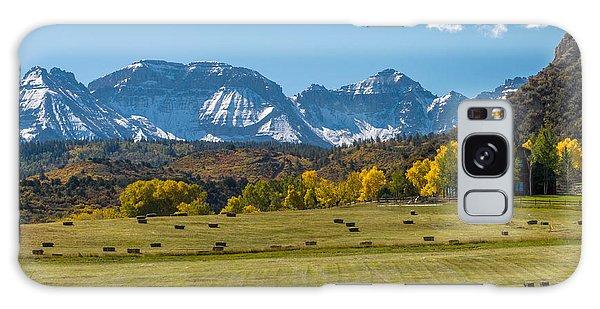 A Field Of Hay In Colorado Galaxy Case