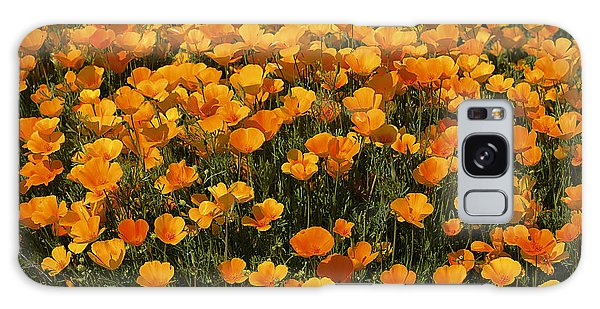 A Field Of Poppies Galaxy Case by Phyllis Denton