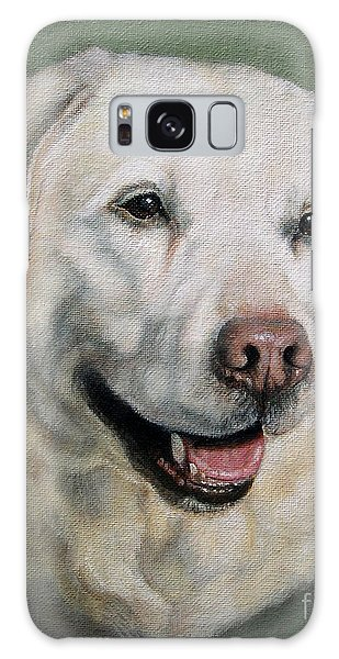 A Fine Old Lady Yellow Labrador Portrait Galaxy Case