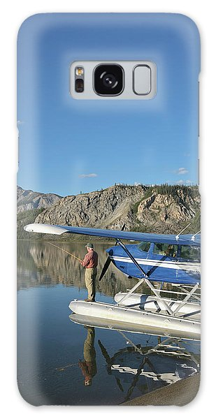 Boreal Forest Galaxy Case - A Fisherman Casts For Lake Trout by Hugh Rose
