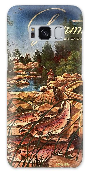 A Fishing Scene Galaxy Case