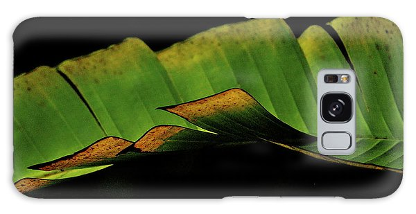 A Floating Heliconia Leaf Galaxy Case by Lehua Pekelo-Stearns