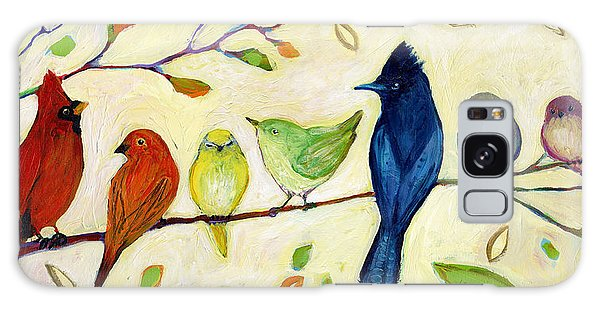 Cardinal Galaxy Case - A Flock Of Many Colors by Jennifer Lommers