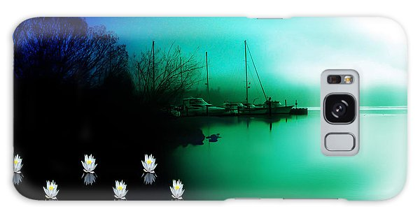 A Foggy Day At Log Boom Park On Lake Washington Galaxy Case by Eddie Eastwood