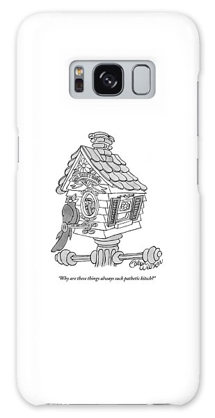 Cuckoo Galaxy Case - A Frustrated-looking Bird Perches Himself by Gahan Wilson