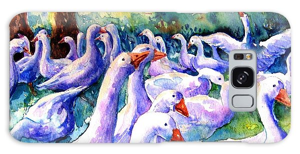 Gosling Galaxy Case - A Gaggle Of Geese by Trudi Doyle