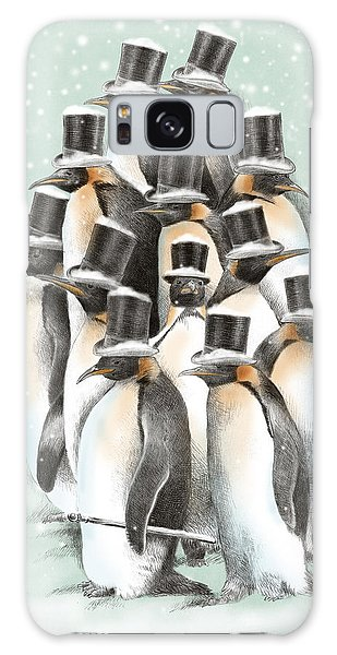 Penguin Galaxy Case - A Gathering In The Snow by Eric Fan