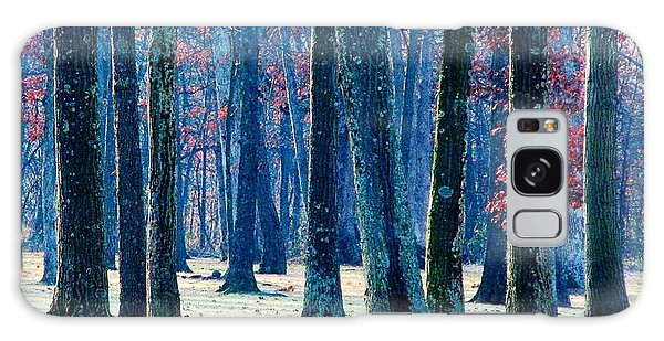 A Gathering Of Trees Galaxy Case by Angela Davies