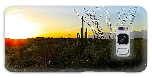 A Gentle End To The Day Galaxy Case by Brenda Pressnall